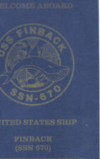 670 SSN Finback * Welcome Bk * Pic * Presented To Award