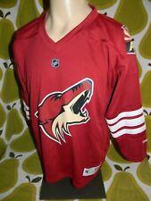 youth PHOENIX COYOTES red hockey jersey L/XL Arizona Reebok NHL