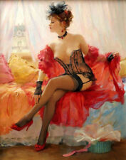 Home deco Wall Art Print Sexy woman Oil Painting HD Printed on Canvas L1547