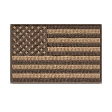 American Flag Embroidered Patch Hook Us Desert Tan Subdued Shoulder Usa new