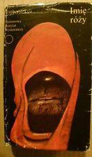 """POLISH BOOK,"""" IMIĘ RÓŻY"""" UMBERTO ECO ,PIW W-wa 87r,wydanie I."""
