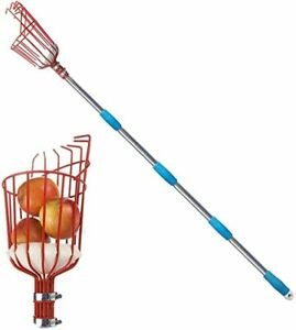5.5ft Length Adjustable Lightweight Fruit Picker Catcher Tool Stainless Steel