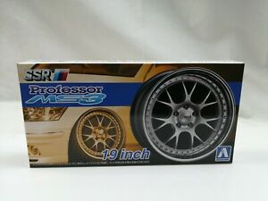 1/24 scale Aoshima SSR Professor MS3 19 inch wheels tyres New