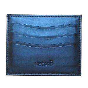 Real Leather Credit Card Holder ID Wallet Slim Cardholder Card Case - UK Seller