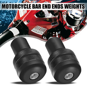 "2PCS 7/8"" GRIPS BALANCED PLUG SLIDER HANDLE BAR END MOTORCYCLE HANDLEBAR PLUGS"