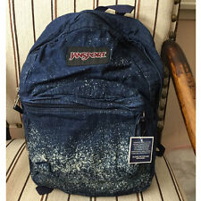 JanSport Super FX Backpack Book Bag Denim  Indigo Blue White Galaxy TVP8 ZS2