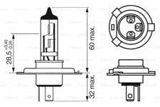 BOSCH 1 987 302 049 Glühlampe Hauptscheinwerfer für FORD RENAULT VW