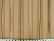 Drapery Upholstery Fabric Chenille Stripes Satin Textured Background - Tan/Gold
