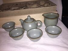 4oz. Tea set from Japan with four 1oz Cups and Creamer In Original Wooden Box