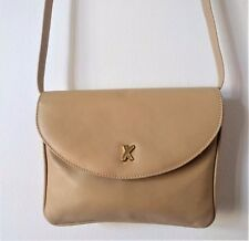 BY PALOMA PICASSO ITALY Leather Ivory Small Convertible Handbag Clutch EXCELLENT
