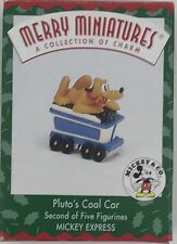 Mickey & Co Merry Miniatures Pluto's Coal Car 1998 Hallmark Ornament