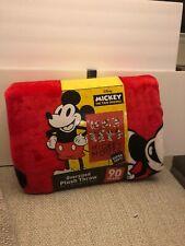 DISNEY MICKEY MOUSE 59x78 Oversized Blanket Plush throw 90 Years