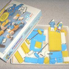 COLLECTION : Ancienne boite de Schtroumpf style lego VINTAGE jeu de construction