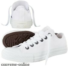 Mens CONVERSE All Star WHITE MONOCHROME OX Trainers Shoes Sneakers UK SIZE 12