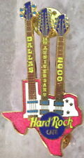 Hard Rock Cafe DALLAS 2000 14th Anniversary PIN Hot Pink Triple Neck Guitar 2249