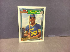 1991 Rookie Manny Ramierz Topps Draft Pick Gold Edition Baseball Card,  MINT