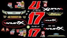 #17 Matt Kenseth WILEY X  Ford Fusion 2011 1/24th - 1/25th Scale Decals