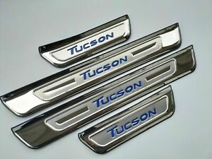 For Hyundai Tucson Accessories Door Sill Protector Scuff Plate Car Sticker 2019