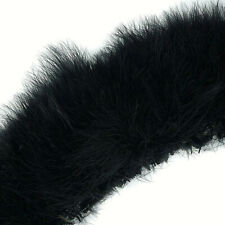 50 Black Good Blood Quill Marabou Turkey Feathers - US Seller