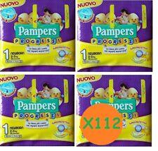 Pampers Progress 112 Windeln Neugeborenen tg.1 (2-5 kg) 4 Packungen A 28 Stk