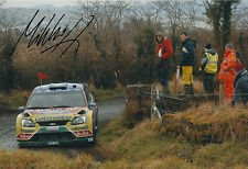 Mikko Hirvonen Hand Signed 12x8 Photo Ford Focus Rally 5.