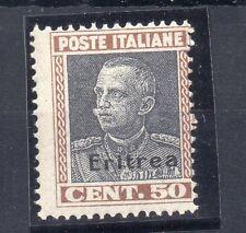 FRANCOBOLLI 1928 ERITREA VITTORIO EMANUELE 3° C.50 MNH D/8943