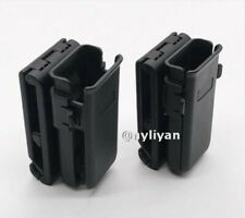 Tactical Universal Pistol Magazine Pouch Single Mag Holder with Belt Clip Hunt