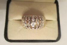 14K Gold Diamond Wedding Band Dia=1.50 Carats D-VS2  12 MM Wide Value=$5,950