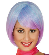 Purple Ombre Bob Wig Synthetic With Fringe Cosplay Hair High Quality
