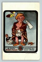 A Little Red Man, Native American, Doll Scalped by Ullman Vintage Postcard  Z18