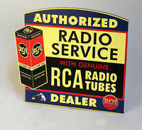 RCA Victor Electron Tubes AUTHORIZED DEALER Stand up ad Camden NJ Nipper Dog