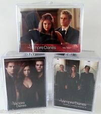 The Vampire Diaries CW COMPLETE Trading CARD BASE BOX 204-card SET season 1,2& 3