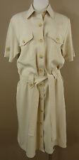 Sportlich schickes GERRY WEBER Sommer Hemd Kleid, beige Gr. 34