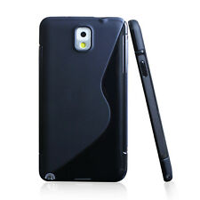 Soft S Line TPU Skin Case Resist Shock/Scratches Samsung Galaxy Note 3 Headphone