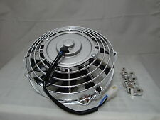 7 INCH CHROME SILVER MOTOR LOW PROFILE HIGH PERFORMANCE THERMO FAN