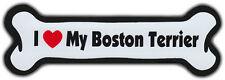 Dog Bone Magnet: I Love My Boston Terrier | Dogs Doggy | Car Automobile