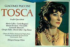 """PUCCINI TOSCA MARIA CALLAS BERGONZI ERCOLANI GOBBI MONREALE PRETRE 12"""" LP L7608"""