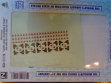 Microscale Decal N  #60-1119 Christman Candy Canes - Snowflakes - Holly