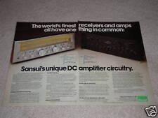 Sansui Ad, G-5000, Au-717 Amplificateur, Récepteur Ad, Specs