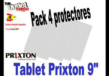"**Pack 4 Protectores de pantalla para PRIXTON 9/"" UNIVERSAL PC 90"