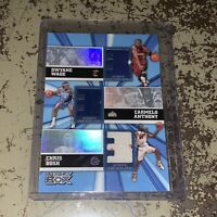 2006 Topps Luxury Box WADE/ANTHONY Jersey Trinity Triple Relic #001/250  1/1