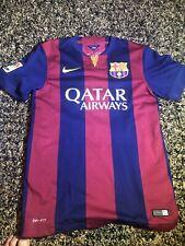 Authentic 2014 Nike Barcelona Futbol Size Small Neymar Jr. #11 Dri-Fit Jersey