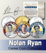 Baseball Legend  NOLAN RYAN US Statehood Quarter Colorized 3-Coin Set *Licensed*
