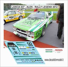 DECALS 1/43 LANCIA 037 ALEN RALLY LEGEND 2012