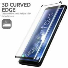 Samsung Galaxy S8 PLUS -100% Curved Screen Protector Tempered Glass- BLACK