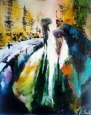Robert Charles Les passants sur le pont  by Galerie Artforyou