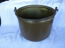 Vintage Hammered Copper & Brass Pail w/Riveted Swing Handle ~ Bucket Planter