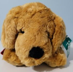 """Vintage Russ Berrie 12"""" Toastin the Tan Brown Dog Plush Puppy NWT"""