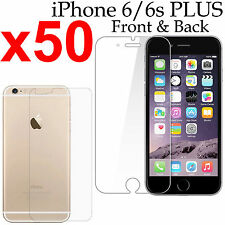 50 Anti-scratch 4H PET film screen protector Apple iphone 6 6s PLUS front + back