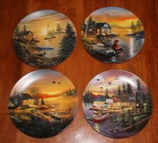 "Set of Four Bradford Exchange ""Hideaway Lake"" by D.L. ""Rusty"" Rust Plates"
